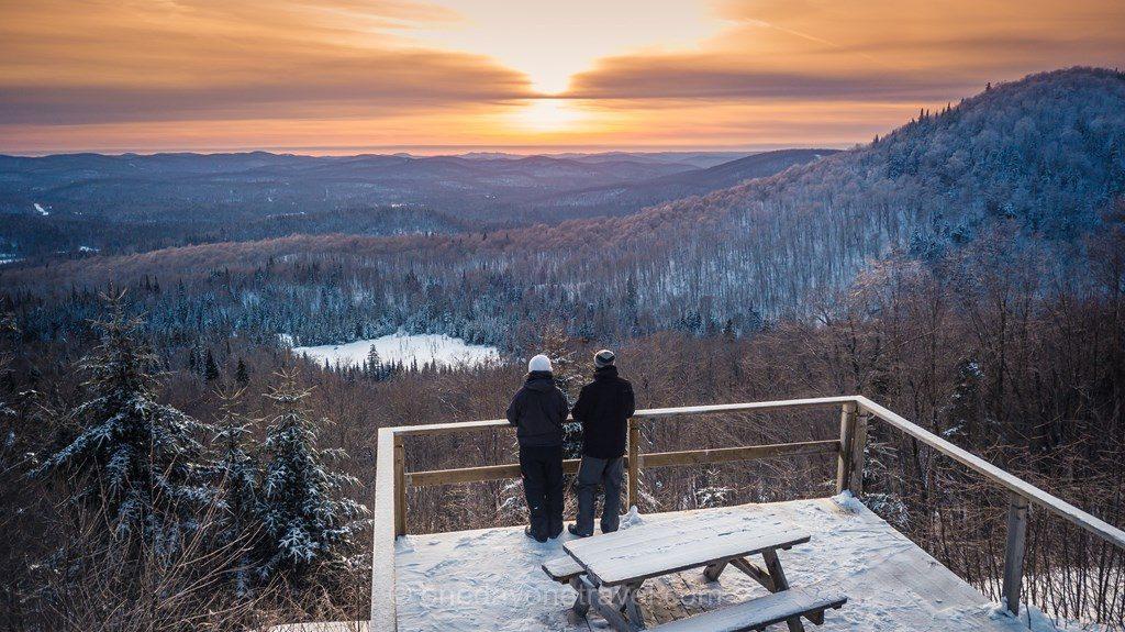 Laurentides hiver Kanatha Aki sunset