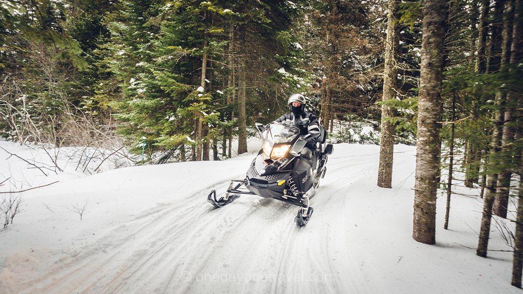 Laurentides Sainte Marguerite Québec motoneige