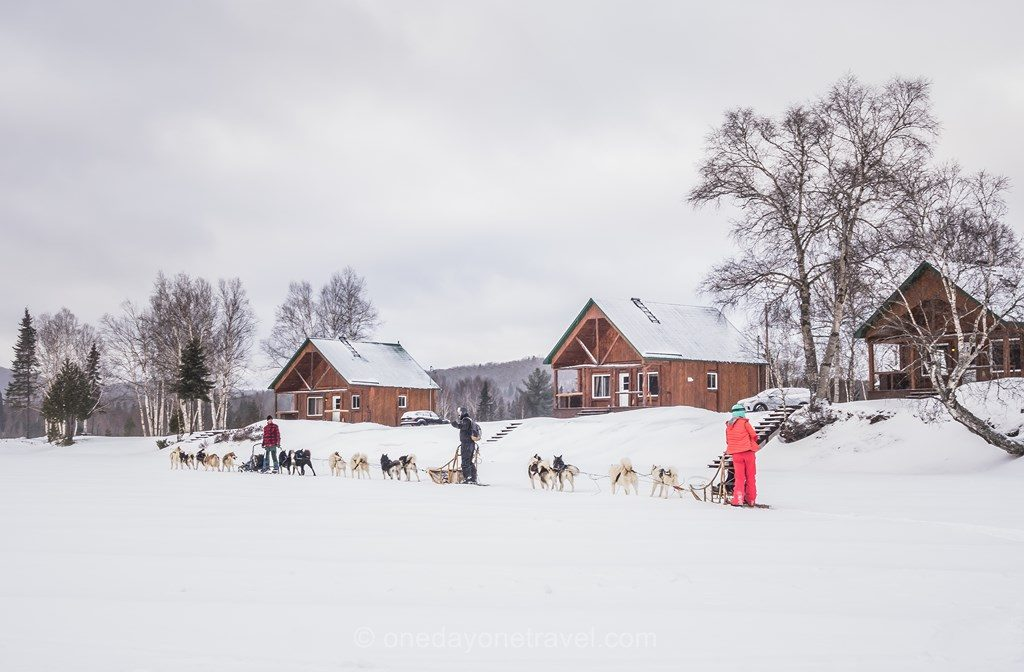Laurentides en hiver pourvoirie Mekoos