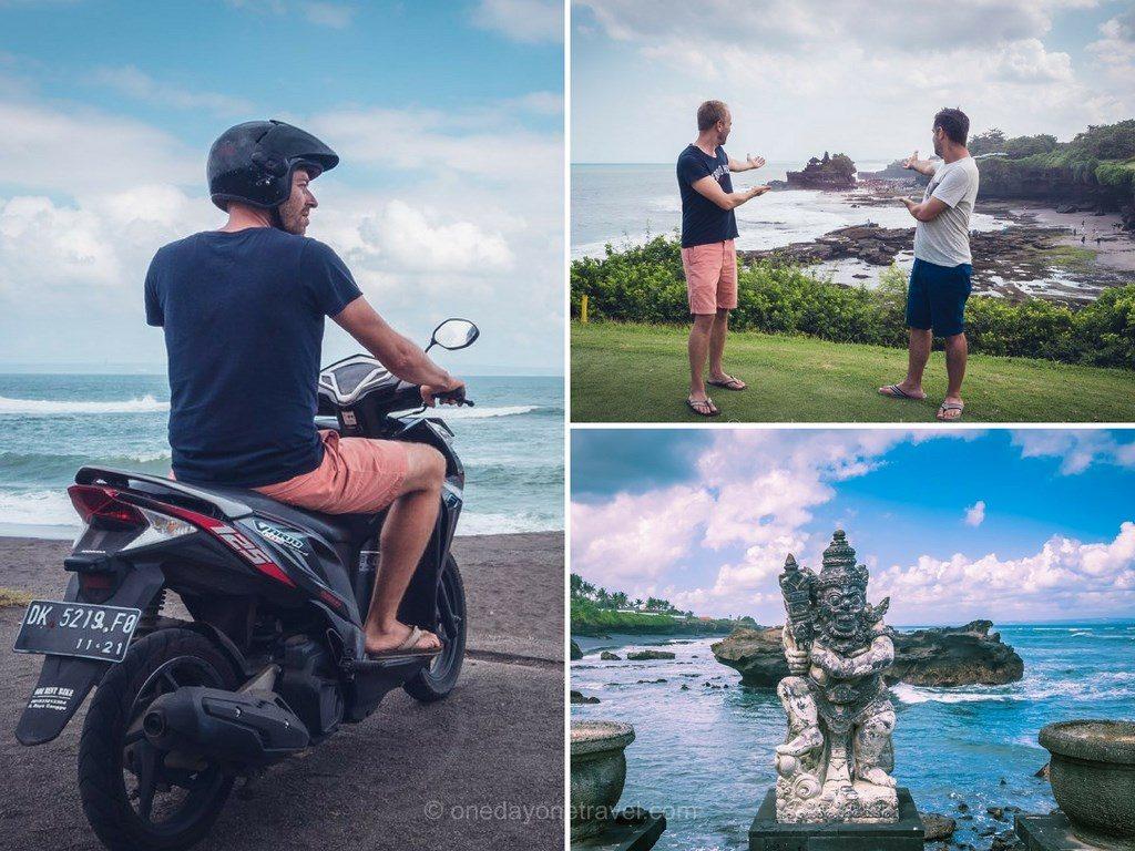 Le Bali en scooter tanah lot Indonésie