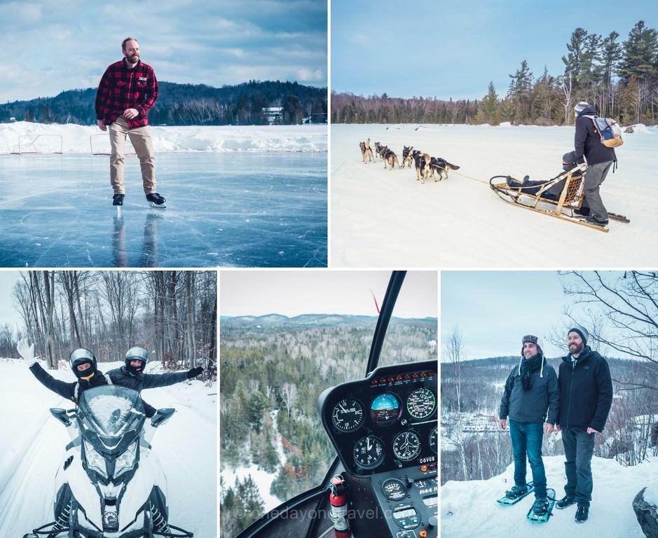 Les laurentides en hiver activités nordiques blog voyage quebec