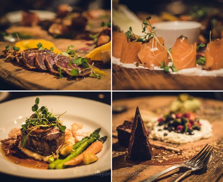 Les laurentides en hiver auberge morency table menu voyage quebec