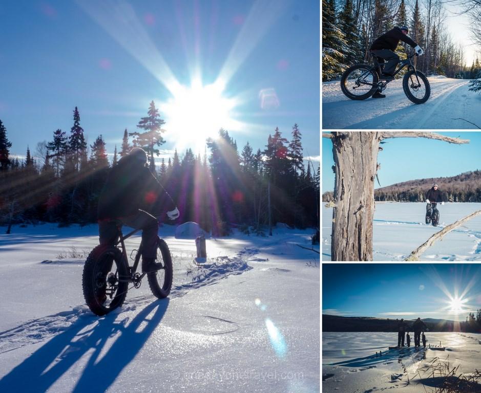 Les laurentides en hiver fat bike montagne du diable blog voyage quebec