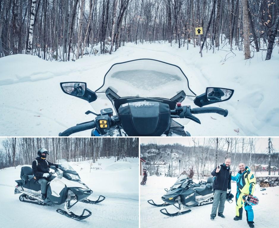 Les Laurentides en hiver Aventures de motoneige en plein air
