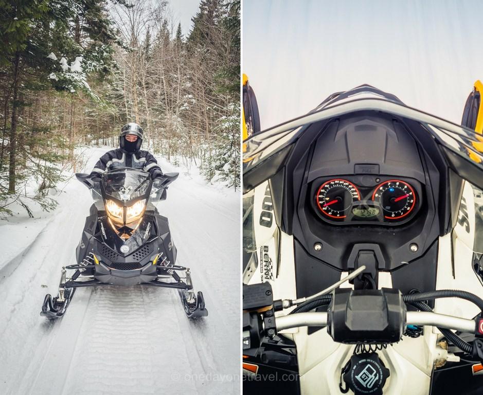Les laurentides en hiver motoneige blog voyage quebec