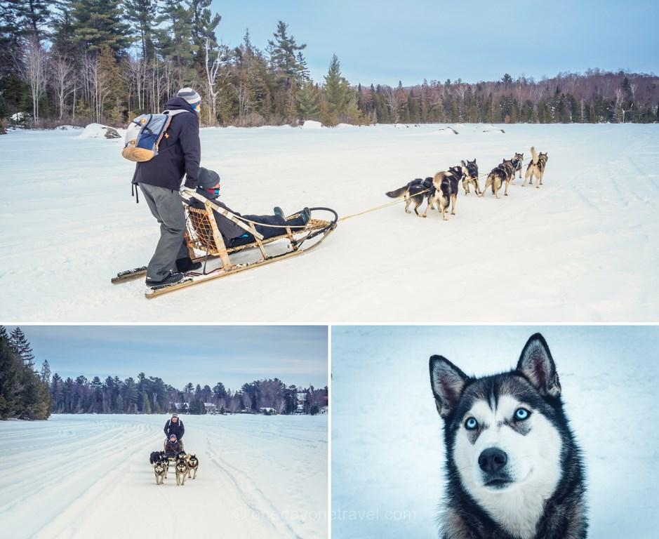 Les laurentides en hiver traineau chiens aventures plein air lac morency blog voyage quebec