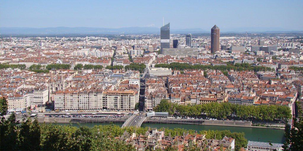 Lyon vue panoramique fourviere