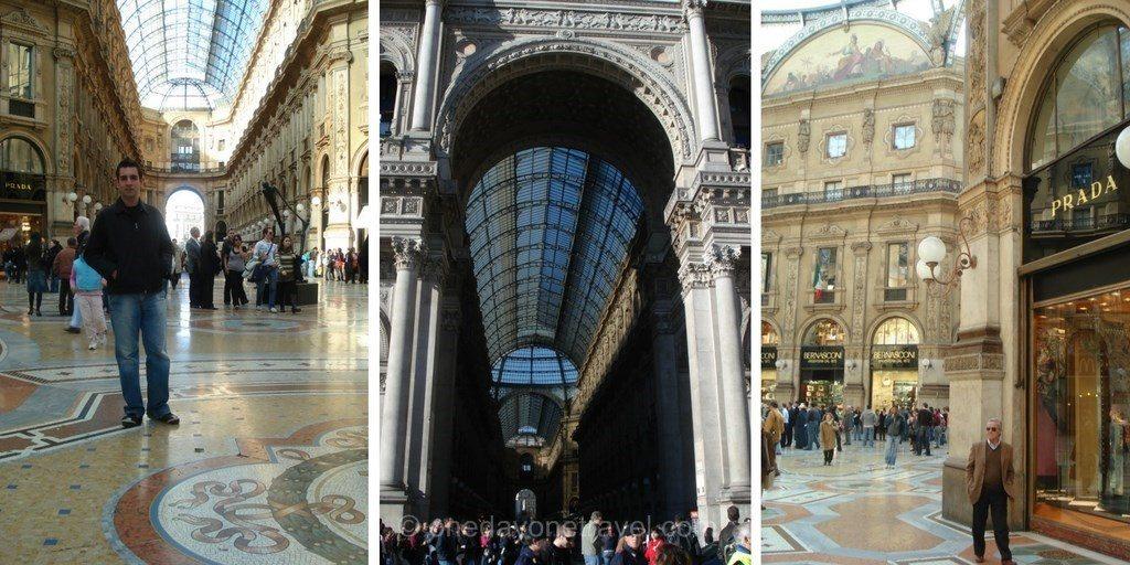 Milan architecture Galerie Vittorio Emanuele II