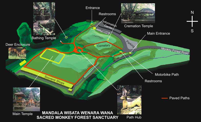 Monkey Forest Ubud Map