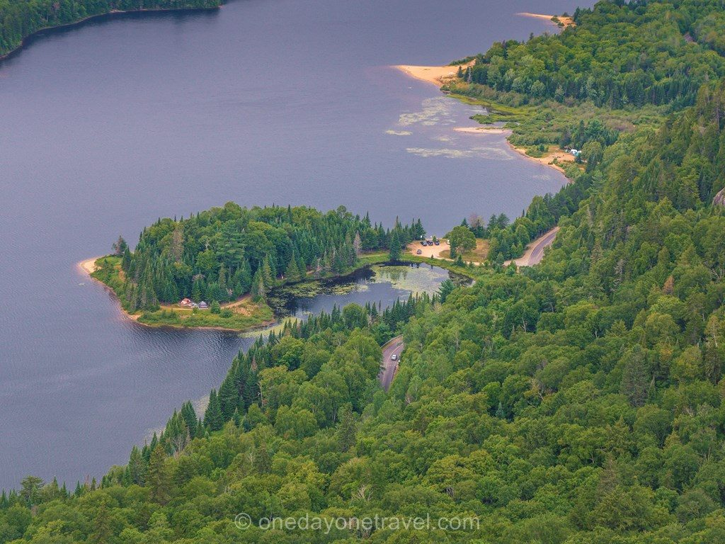 Mont-Temblant Laurentides lac ile
