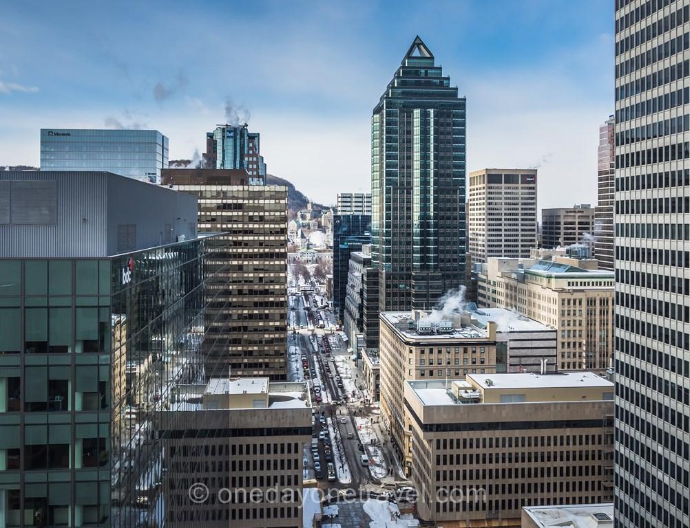 Montréal Fairmont vue Centre