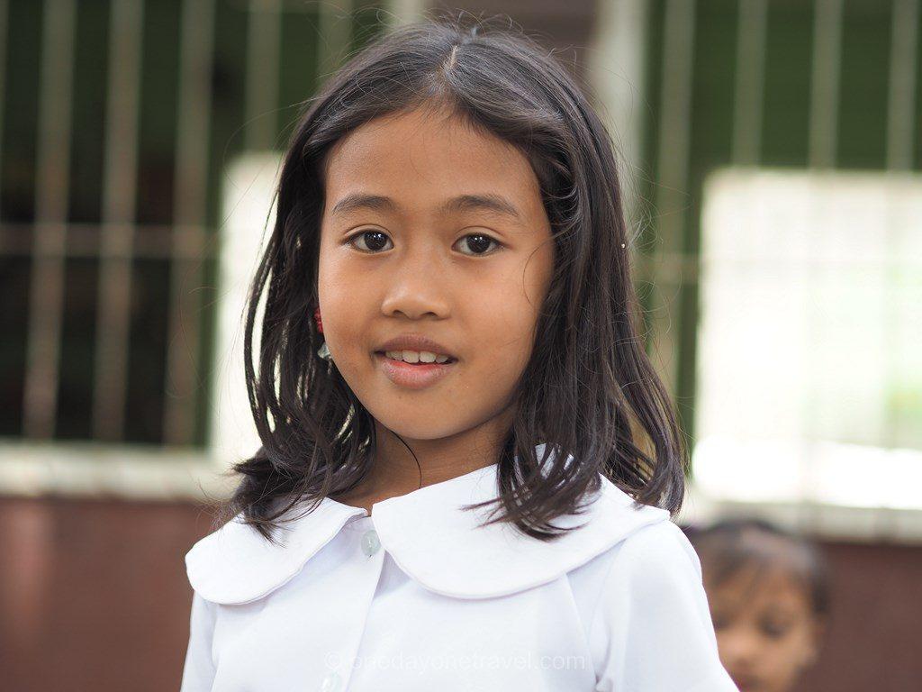 Portrait écolière Philippines