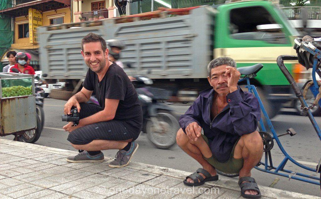 Phnom Penh Bord de fleuve locaux