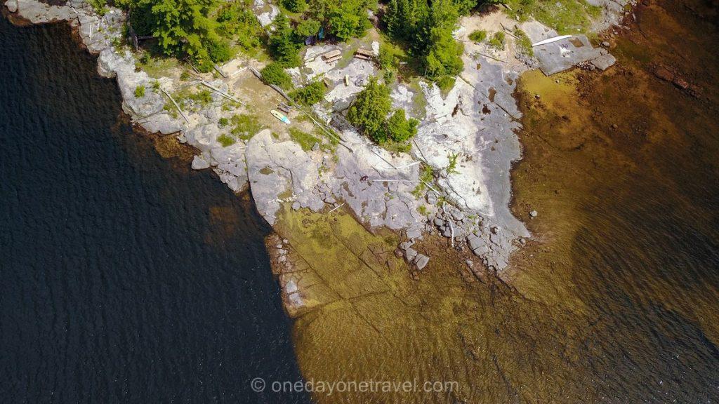 Lac du Poisson Blanc Laurentides plage