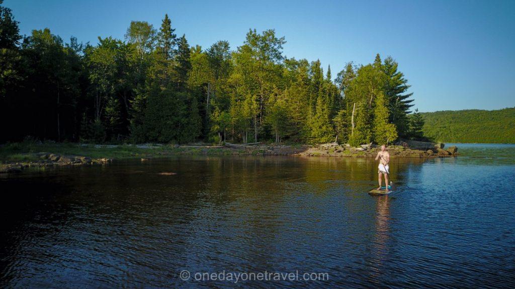 Lac du Poisson Blanc Paddle Richard