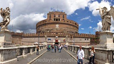 Pont Saint-Ange Rome panoramique