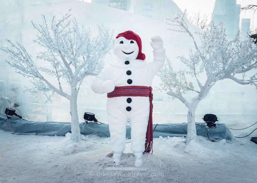 Québec Carnaval bonhomme neige