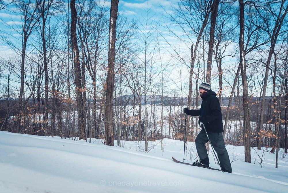 Québec en hiver Duchesnay ski hoc