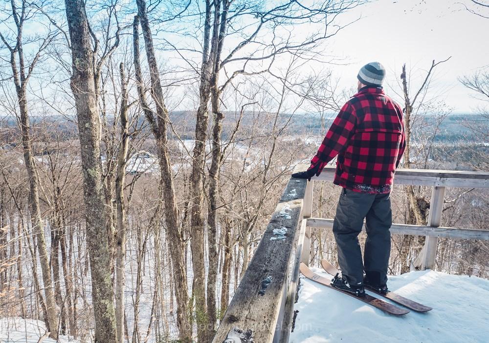 Québec Duchesnay ski hoc vue Richard