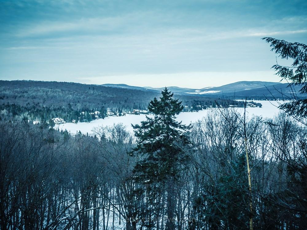Québec Duchesnay ski hoc lac gelé