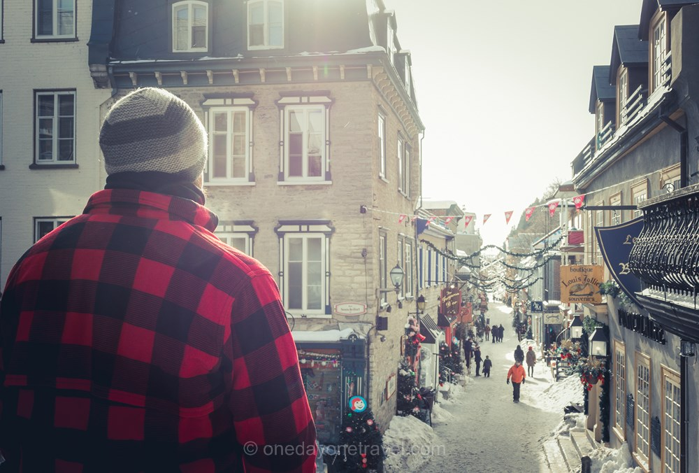 Québec en hiver Petit Champlain Richard