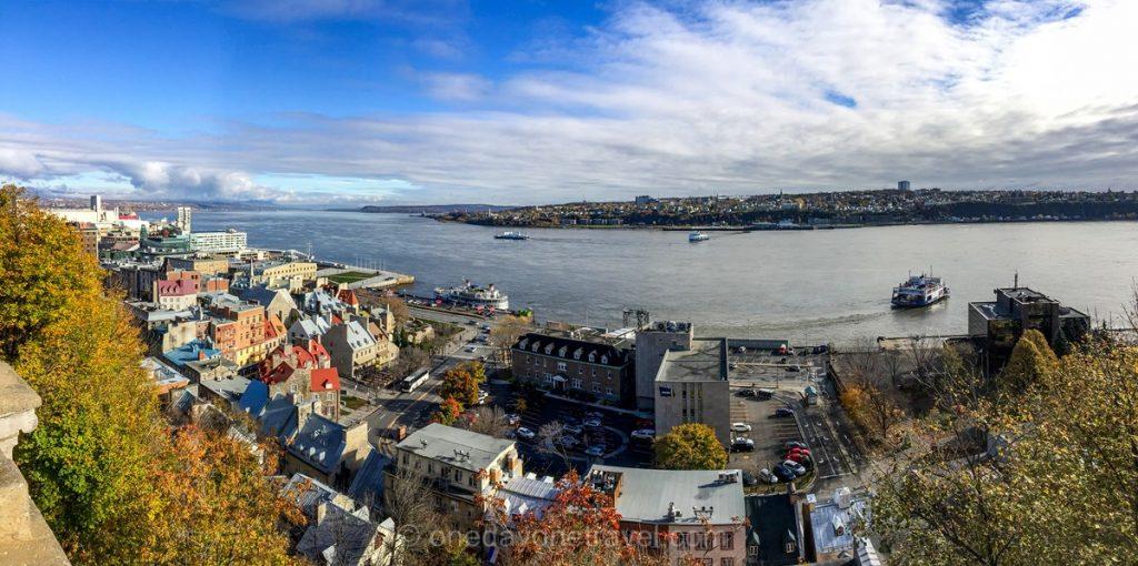 Visiter Québec vue Saint-Laurent