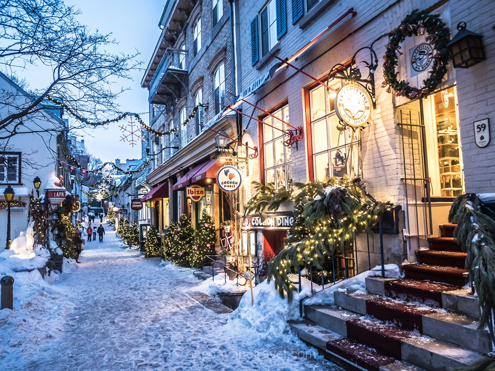 Quebec petit Champlain en hiver