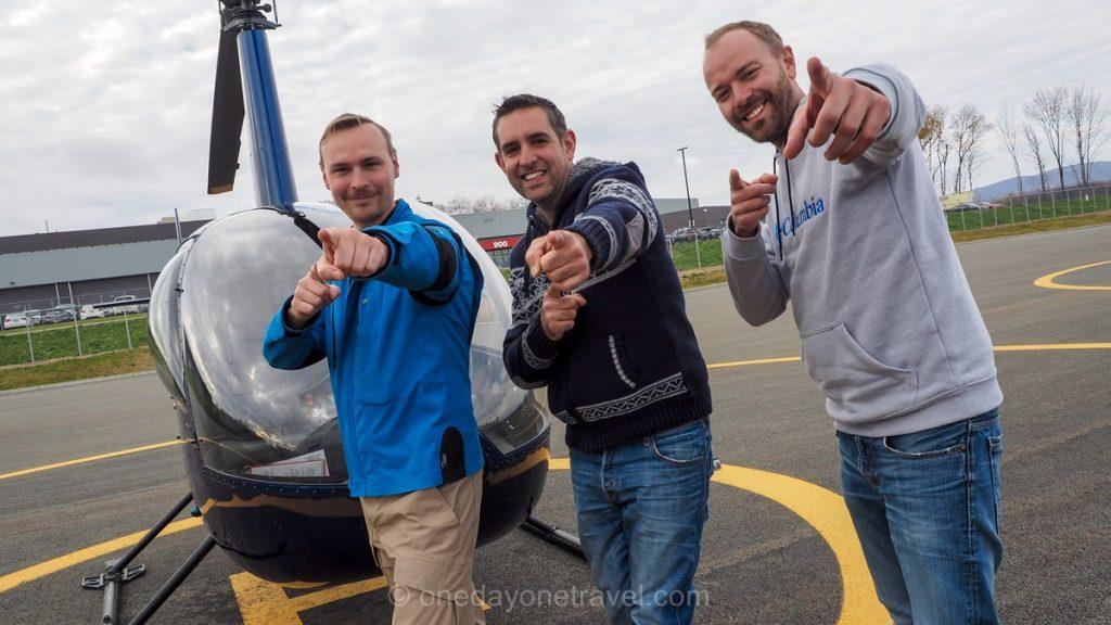 Quebec survol helicoptere pilote richard franck