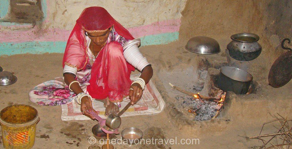 Rajasthan femme indienne chai