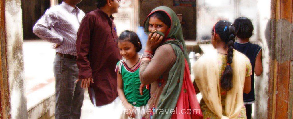 Rajasthan femme indienne timide