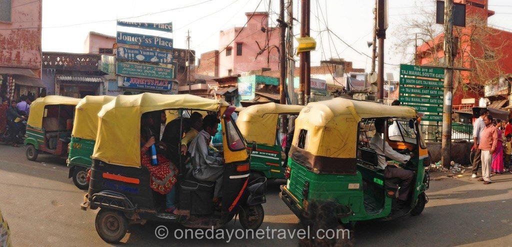 Rajasthan tuktuk rickshaw agra