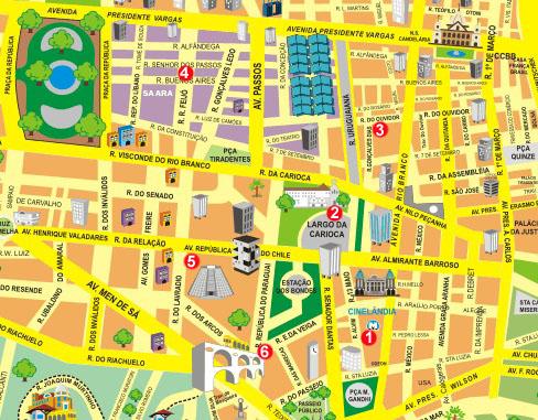 Rio de Janeiro Carte Centro