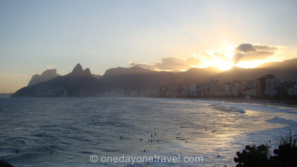 Rio de Janeiro Ipanema plage sunset