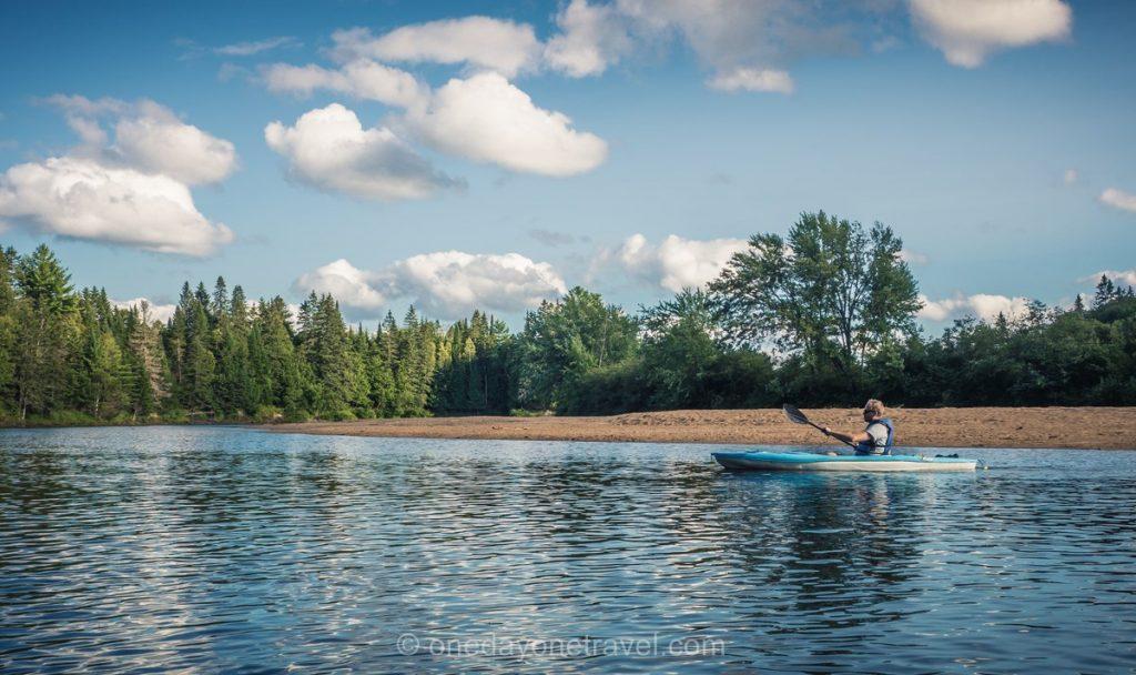 Rivière Rouge Laurentides kayak Richard