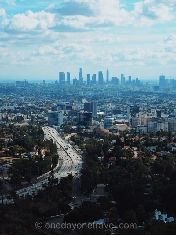 Road Trip ouest américain Los Angeles vue Mulholland Drive