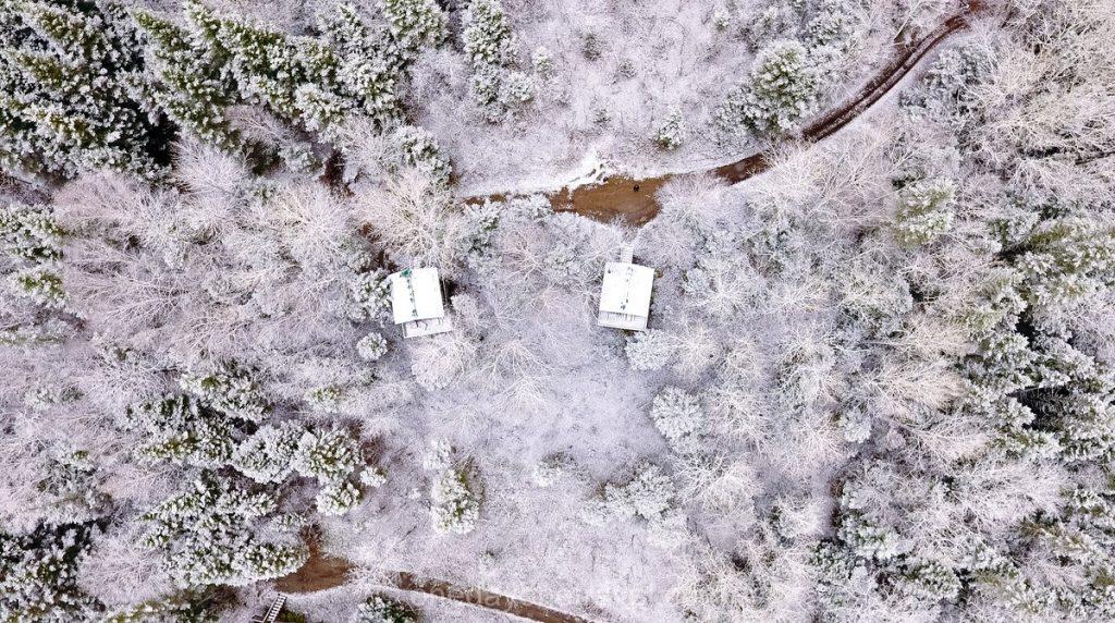 Route Fjord premières neiges Québec