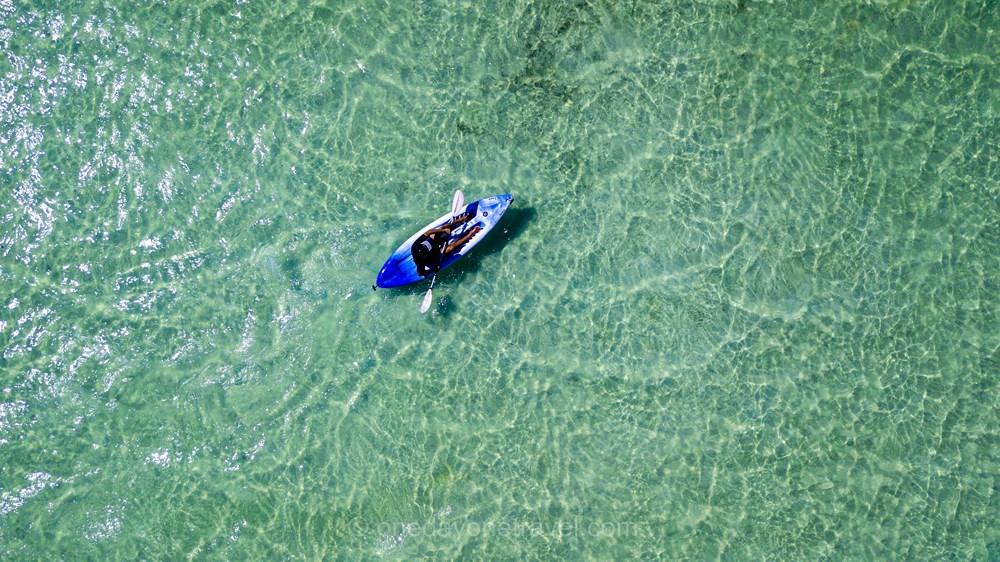 San Salvador kayak Franck Bahamas