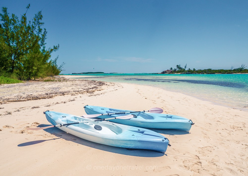 San Savador Bahamas kayak lagon