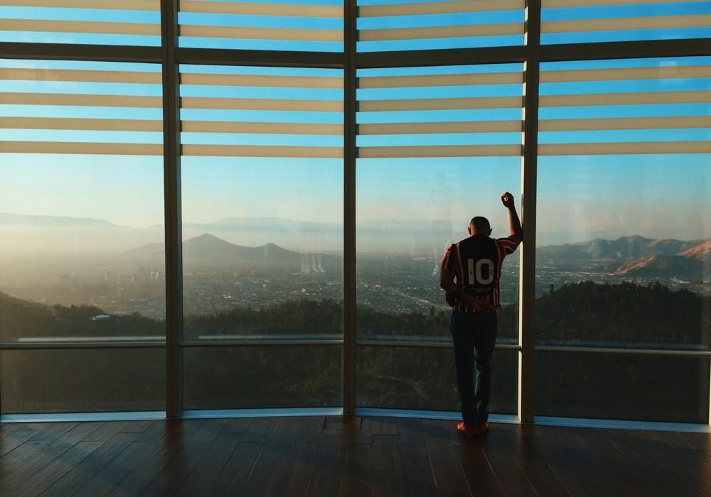 Santiago du Chili Vue depuis Gran Torre sunset