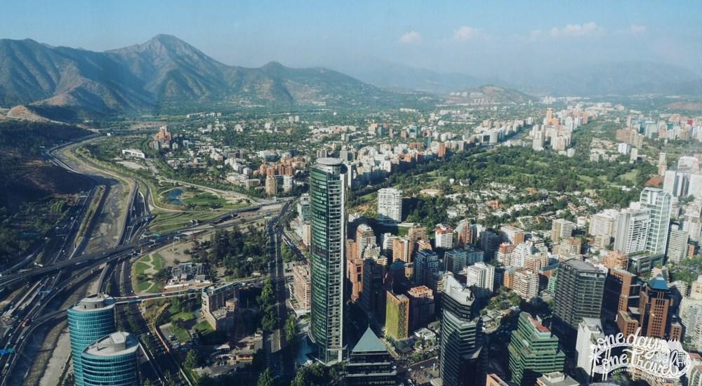 Santiago du chili blog voyage vue depuis gran torre