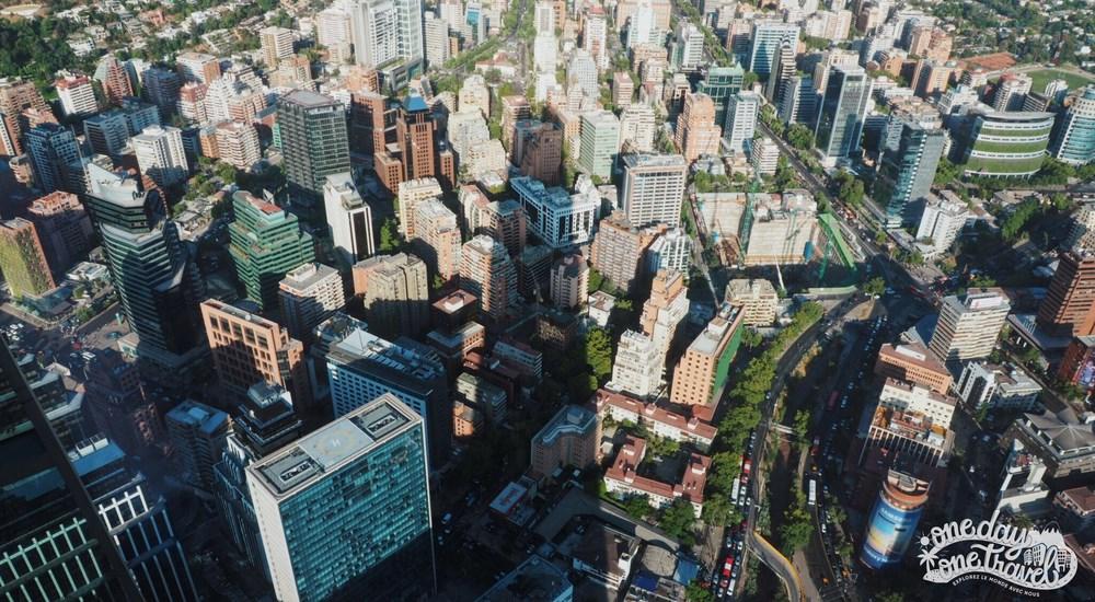 Santiago du chili blog voyage vue ombre gran torre