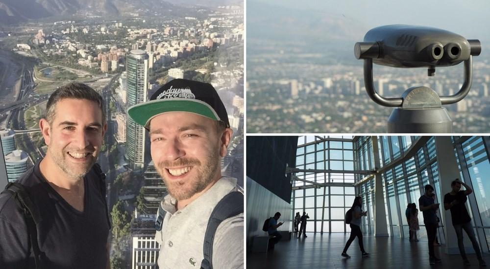 Santiago du chili gran torre selfie