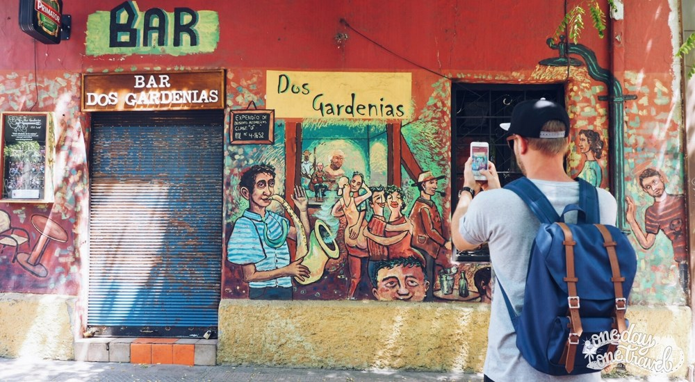Santiago du chili vue quartier bellavista street art