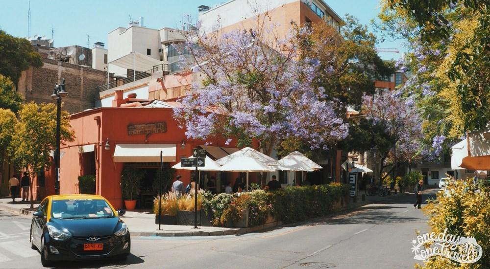 Santiago du chili vue quartier lastarria rue