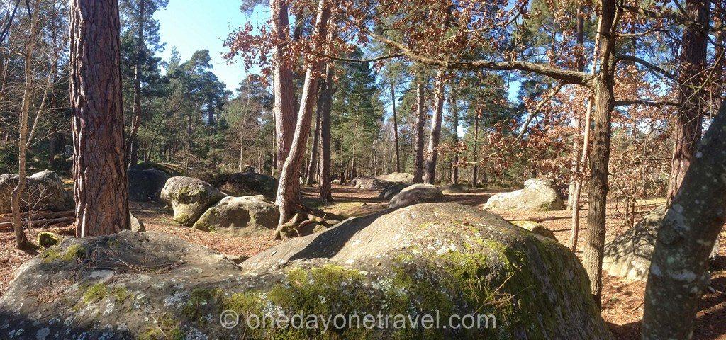 Sentiers des carriers Fontainebleau rochers