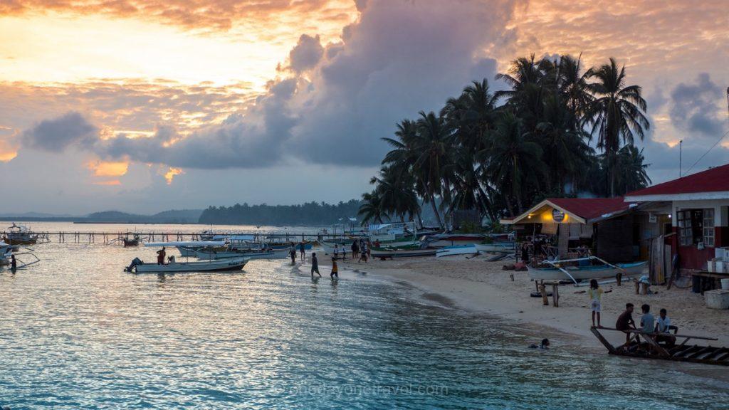 Siargao blog voyage plage sunset