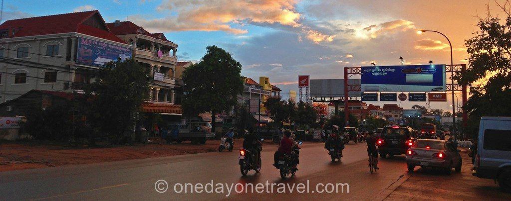 Siem Reap Cambodge sunset