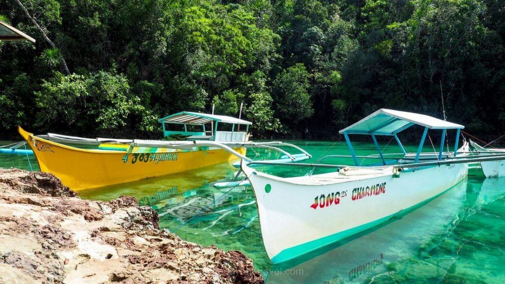 Sugba lagoon bateau Philippines