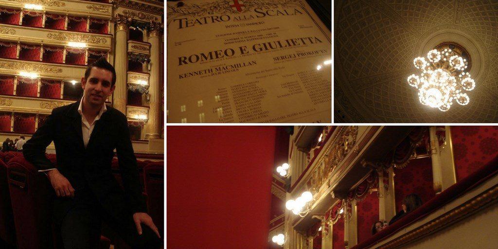 Multiphotos du théâtre de la Scala de Milan