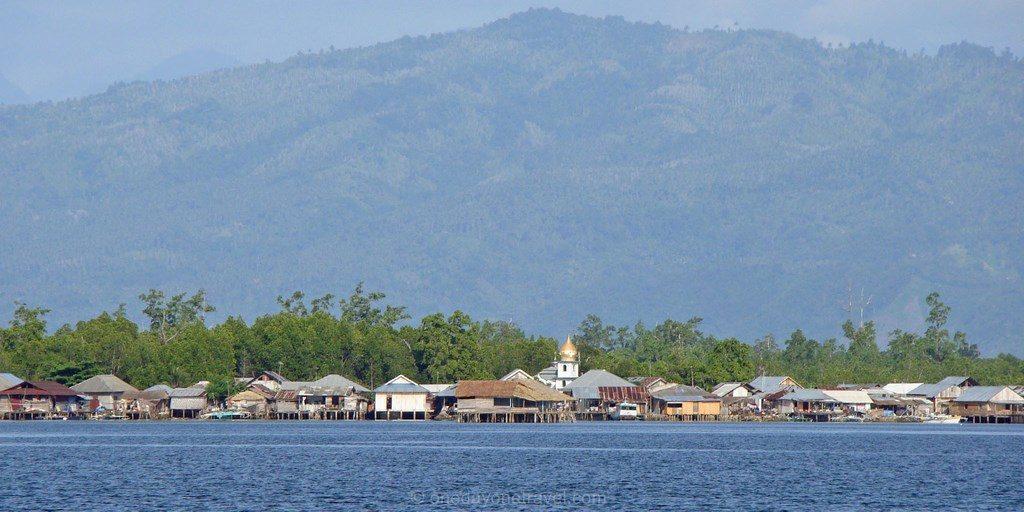 Tumbak village vue depuis bungalow